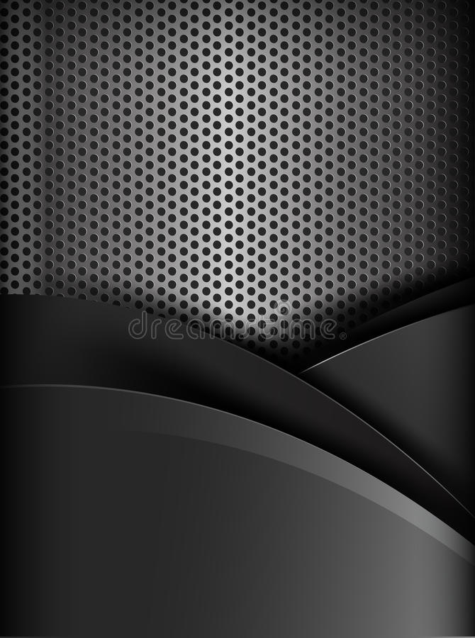 Donkere het elementen van de chroom zwarte en grijze laag textuur als achtergrond royalty-vrije illustratie
