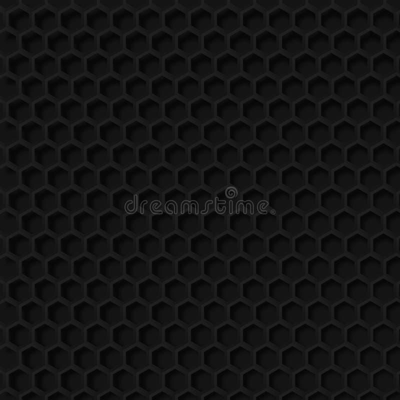 Donkere hexagon honingraatachtergrond vector illustratie