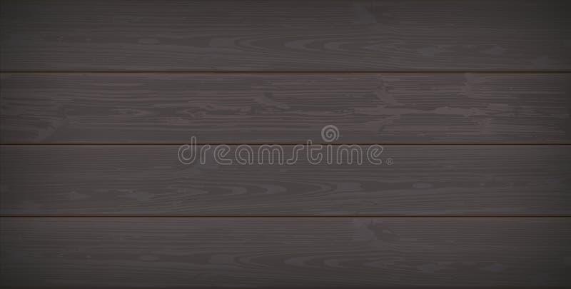 Donkere houten achtergrond vector illustratie