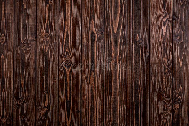 Donkere houten achtergrond, ruwe textuur stock foto's