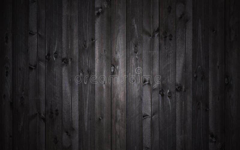 Donkere houten achtergrond, zwarte textuur royalty-vrije stock foto's