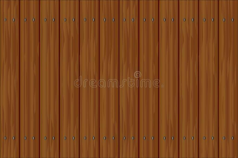 Donkere houten omheining royalty-vrije illustratie