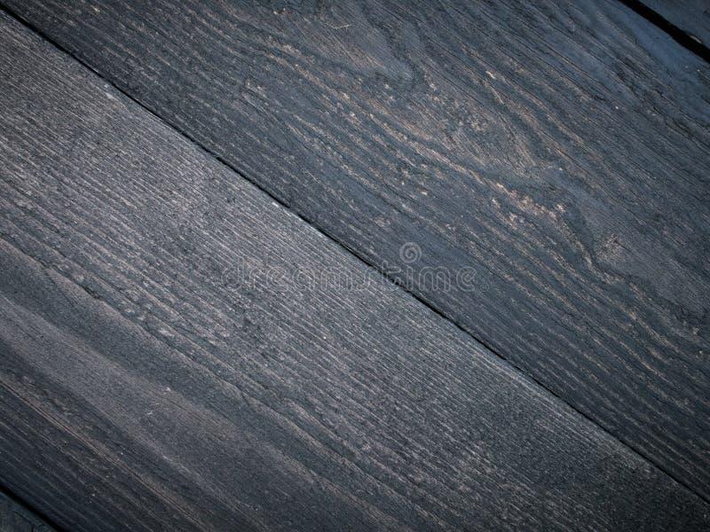 Donkere houten planken Klassieke flatlay achtergrond stock fotografie