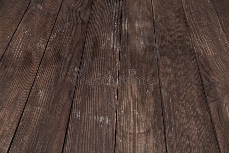 Donkere houten textuur Houten bruine textuur oude panelen als achtergrond Retro houten lijst Rustieke achtergrond Wijnoogst gekle stock foto