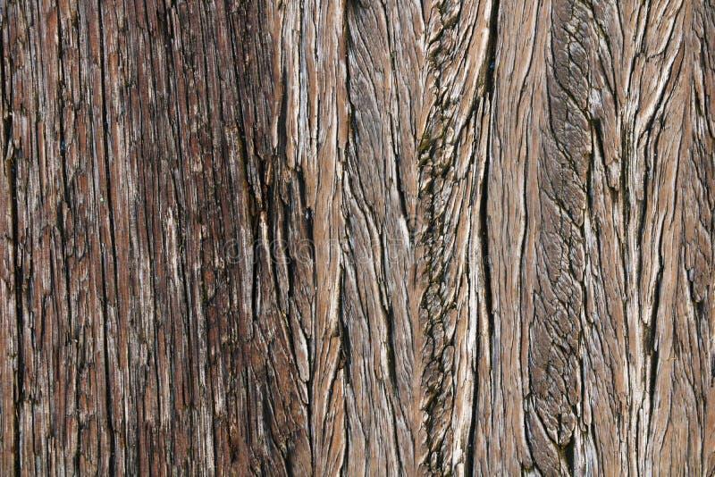 Donkere houten textuur Houten bruine textuur oude panelen als achtergrond Retro houten lijst Rustieke achtergrond Wijnoogst gekle royalty-vrije stock fotografie