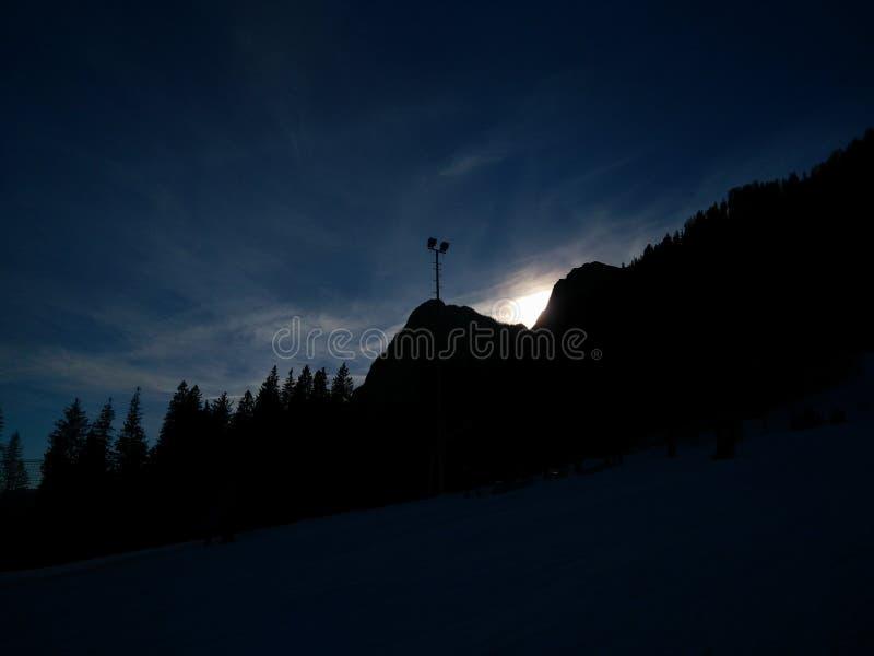 Donkere kant van de hemel stock foto
