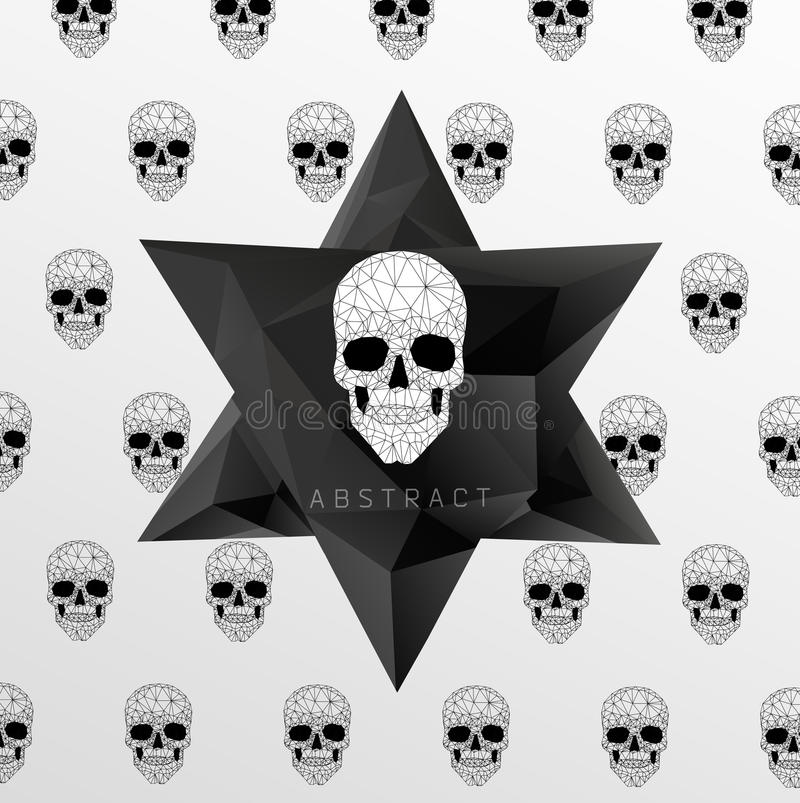Donkere Kerkhofachtergrond vector illustratie