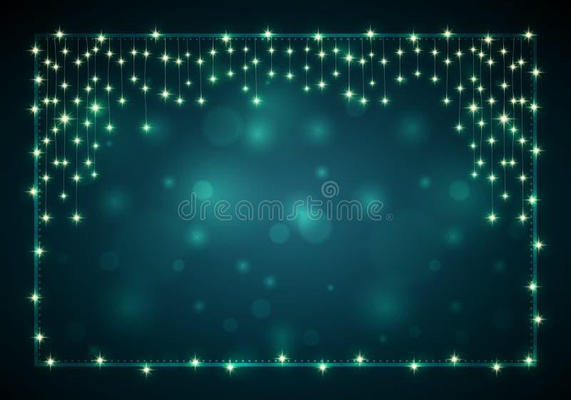 Donkere Kerstmisachtergrond stock illustratie