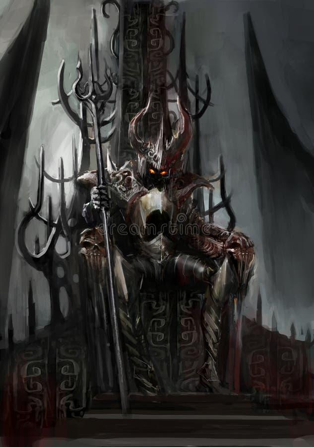 Donkere koning vector illustratie