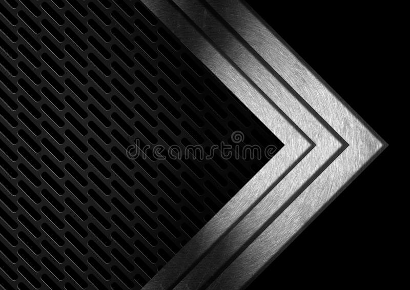 Donkere Metaal Abstracte Achtergrond met Pijlen royalty-vrije illustratie