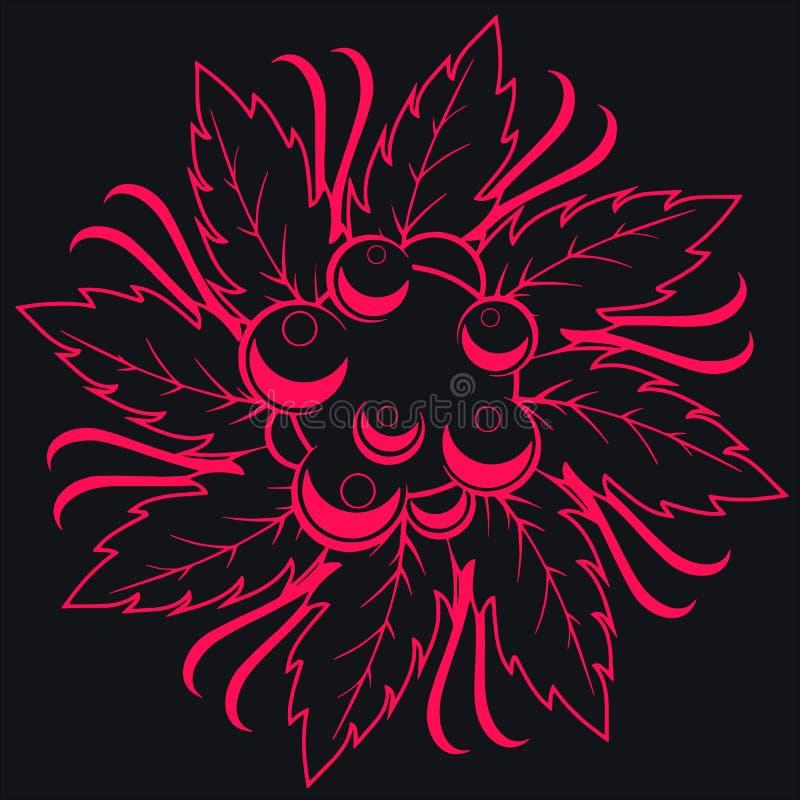 Donkere naadloze bloemen stock illustratie