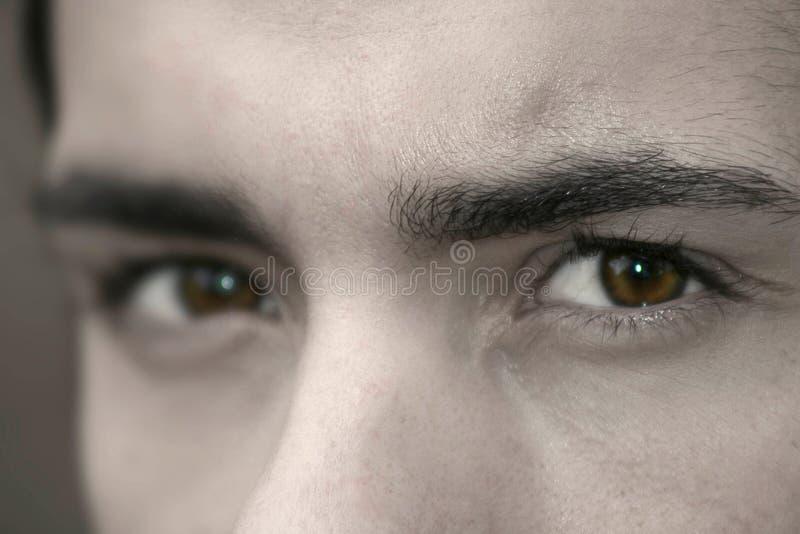 Donkere ogen royalty-vrije stock fotografie