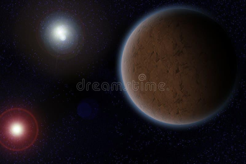 Donkere planeet stock illustratie