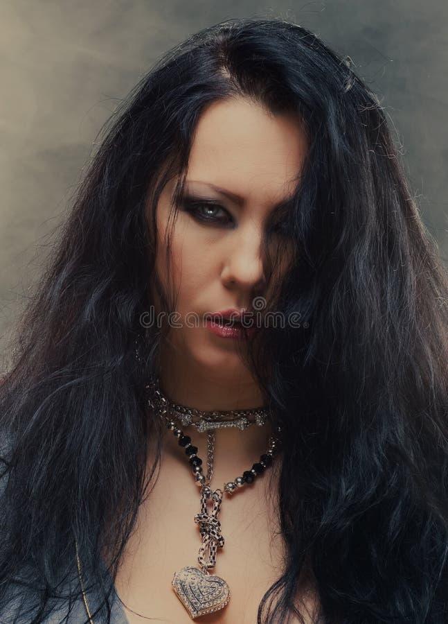 Donkere prinses stock fotografie