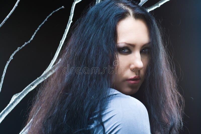 Donkere prinses stock foto