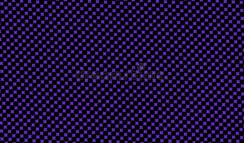 Donkere purpere achtergrond met kruisen Abstract patroon in minimalistische stijl Scalable vectorgrafiek royalty-vrije illustratie