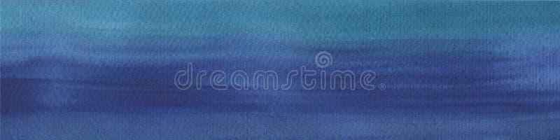 Donkere rijke blauwe waterverfhand getrokken achtergrond met slagen en scheidingen Abstracte achtergrond voor ontwerp, lay-outs stock illustratie
