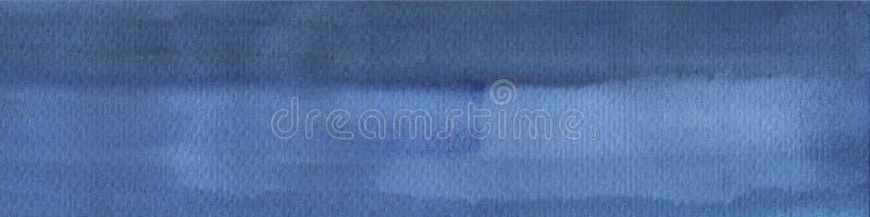Donkere rijke blauwe waterverfhand getrokken achtergrond met slagen en scheidingen Abstracte achtergrond voor ontwerp, lay-outs vector illustratie