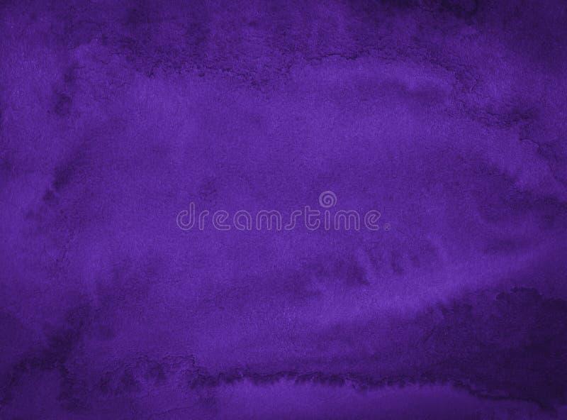 Donkere rijke purpere waterverfachtergrond met gescheurde slagen en ongelijke scheidingen Abstracte achtergrond voor ontwerp, lay vector illustratie