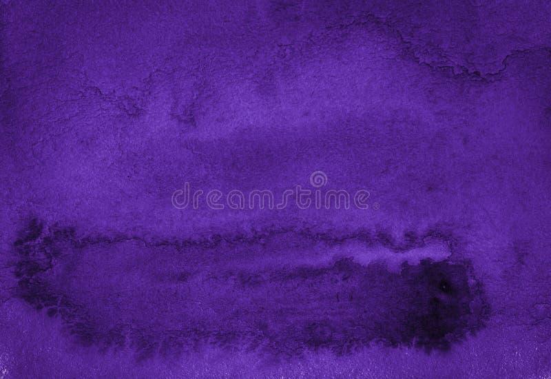 Donkere rijke purpere waterverfachtergrond met gescheurde slagen en ongelijke scheidingen Abstracte achtergrond voor ontwerp, lay stock illustratie