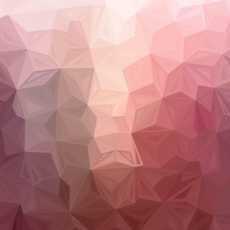 Donkere Roze vectorveelhoek abstracte achtergrond Een steekproef met veelhoekige vormen Volledig nieuw malplaatje voor uw banner royalty-vrije illustratie