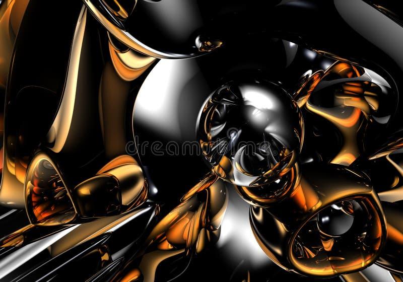 Donkere ruimte (samenvatting) 02 stock illustratie