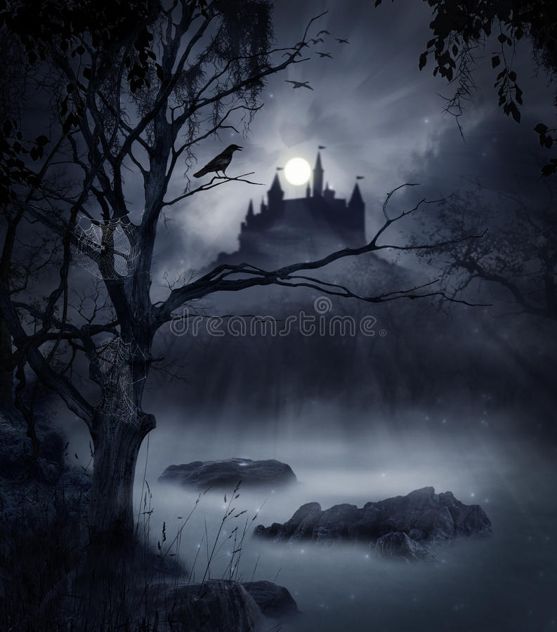 Donkere scène stock fotografie