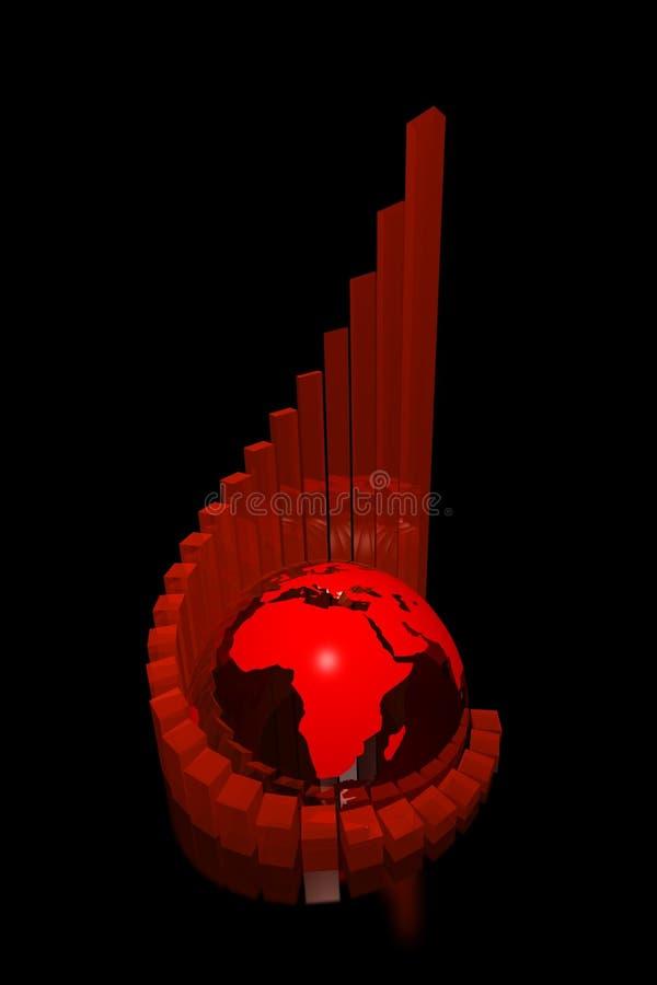 Donkere succesgrafiek Afrika vector illustratie