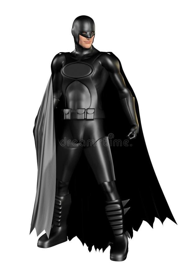 Donkere Superhero stock illustratie