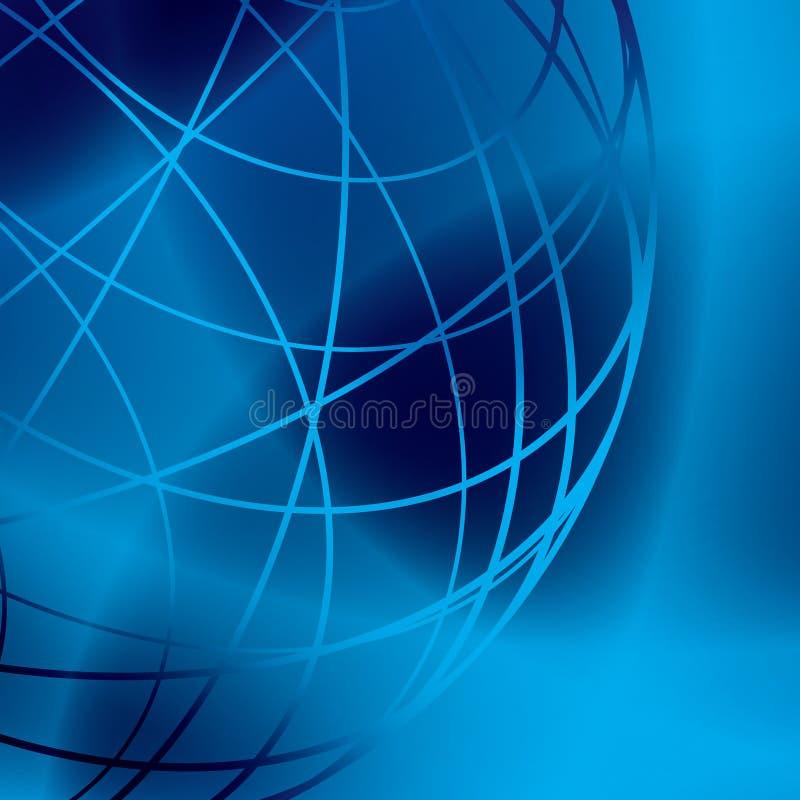 Donkere vector glanzende achtergrond met blauwe lijnen royalty-vrije illustratie