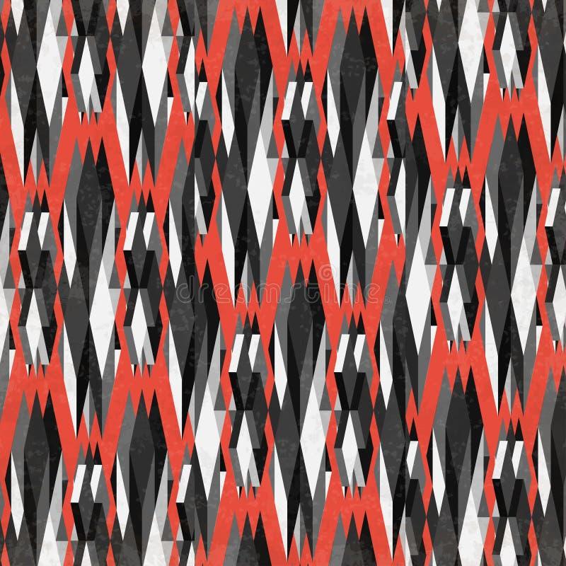 Donkere veelhoeken op een rode achtergrond royalty-vrije illustratie