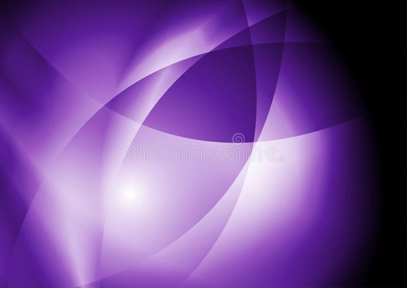 Donkere violette purpere abstracte vlotte golvenachtergrond stock illustratie
