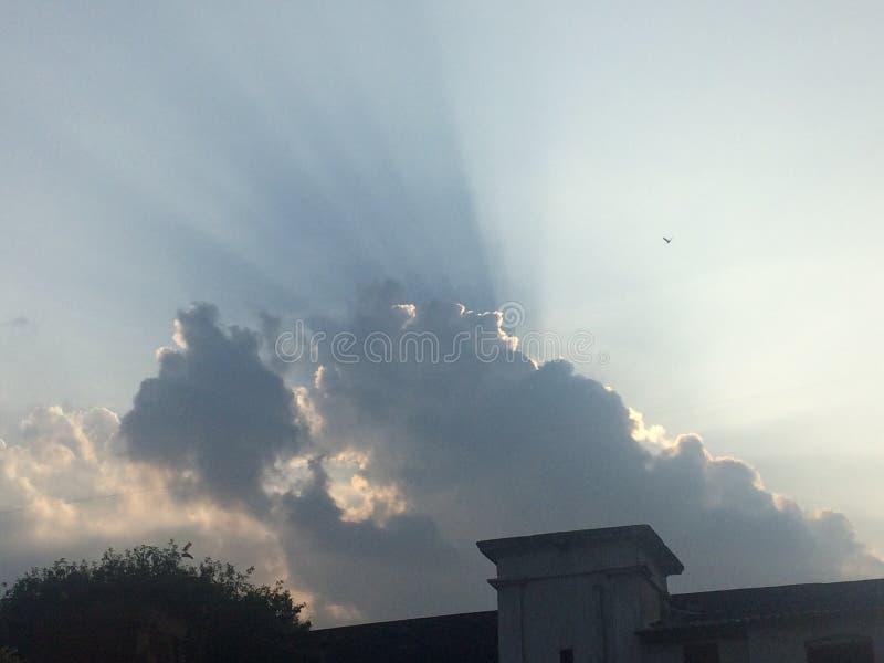 Donkere wolk royalty-vrije stock fotografie
