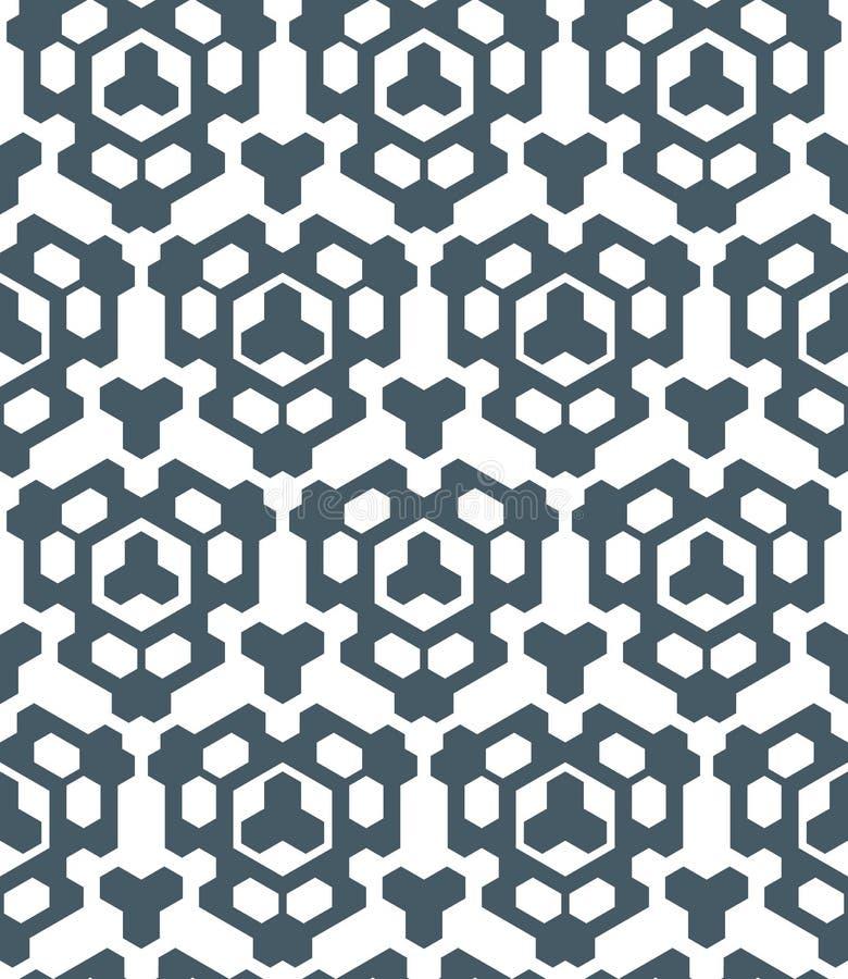 Donkere zwart-wit abstracte geometrische naadloze patte van de kleurendriehoek vector illustratie