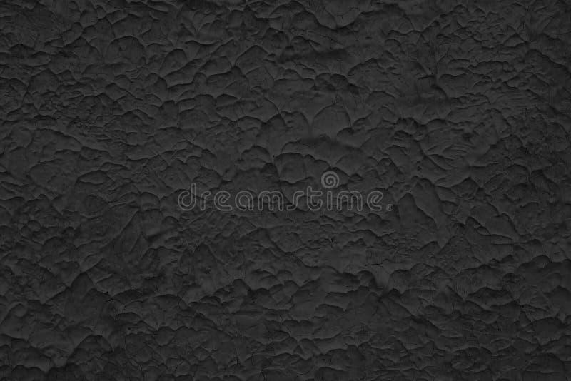 Donkere zwarte grijze van de cementmuur textuur als achtergrond stock fotografie