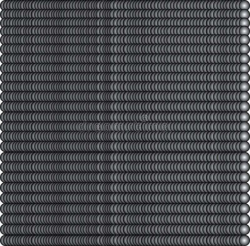 Donkergrijs kleurde vele ballen vector illustratie