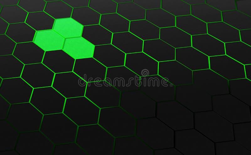 donkergrijze zeshoeken vector illustratie