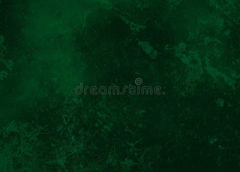 Donkergroene abstracte geweven textuur als achtergrond aan het punt met vlekken van verf Lege achtergrondontwerpbanner stock afbeelding
