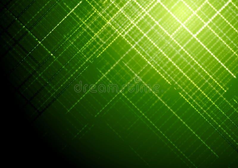 Donkergroene glanzende vector de brochureachtergrond van technologie vector illustratie