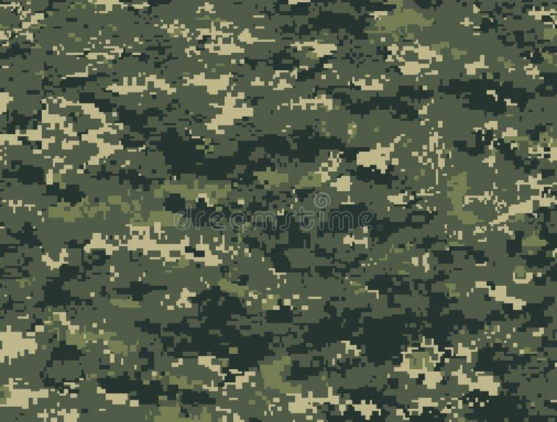 Donkergroene pixelcamouflage vector illustratie