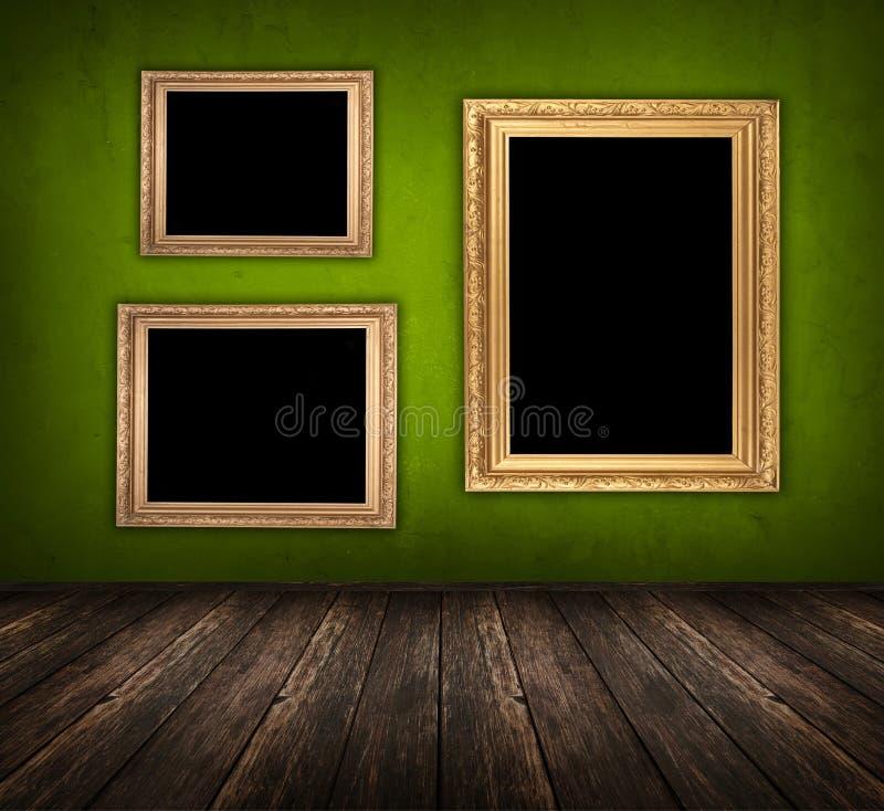 Donkergroene ruimte royalty-vrije stock afbeeldingen