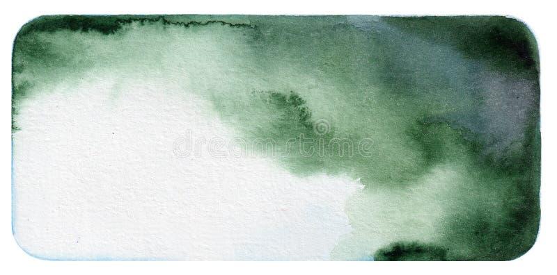 Donkergroene waterverfachtergrond stock foto's