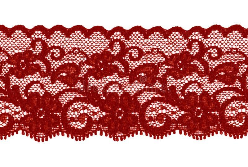 Donkerrode of bruine kantband stock afbeeldingen