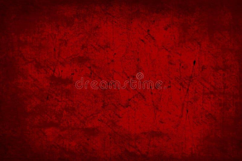 Donkerrood Oud de Textuur van Grunge Abstract Behang Als achtergrond stock illustratie