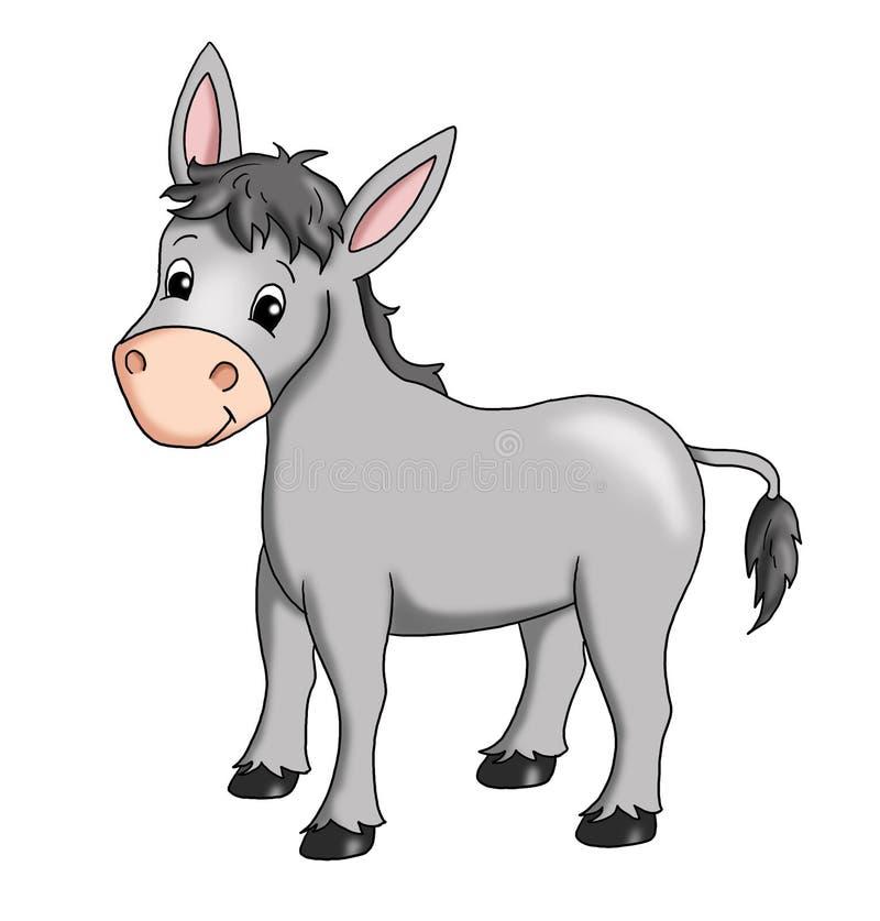 Donkey. Colored illustration of a smiling donkey