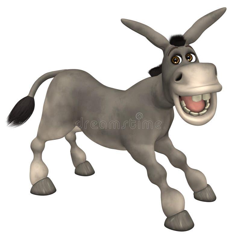 Donkey. Funny Donkey with isolation on a white background