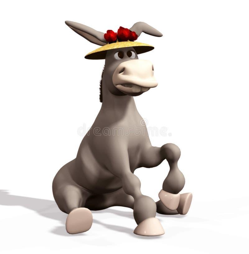 Download Donkey stock illustration. Image of digital, render, animal - 6458935