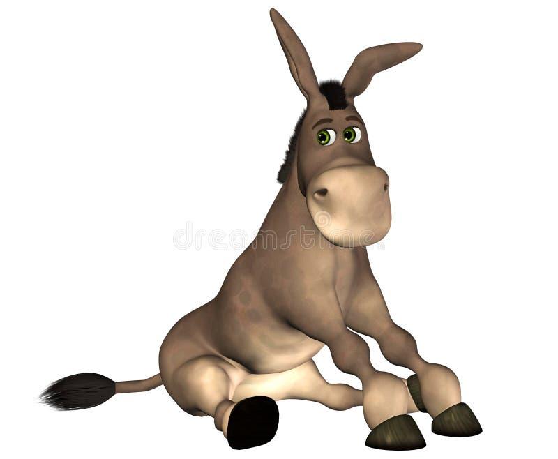 Download Donkey Cartoon stock illustration. Image of rural, render - 16474125