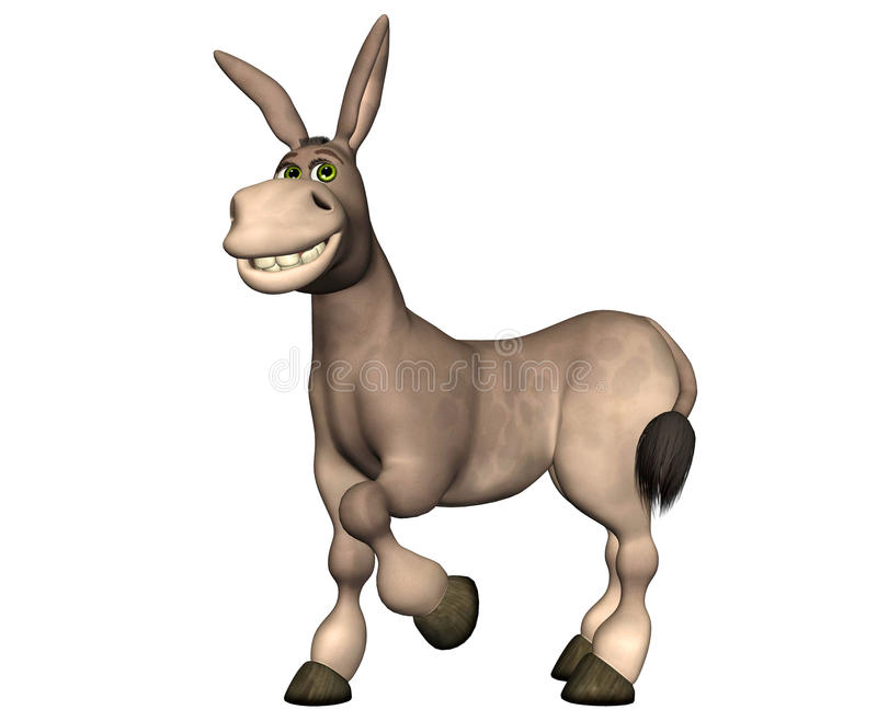Download Donkey Cartoon stock illustration. Image of farm, republican - 22746522