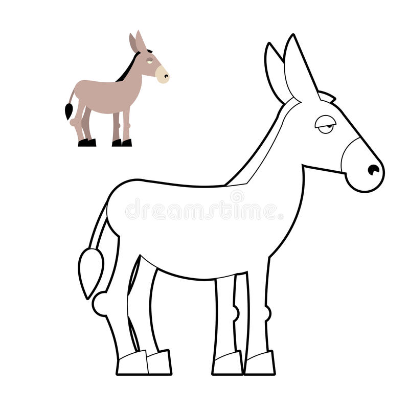donkey coloring book  circuit animal  childrens coloring